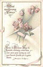"""OLD nice italy rare Holy cards from 1920""""H4776"""" holy flowers"""