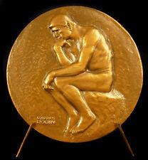 Médaille ESSO centre de recherche Mont Saint Aignan Penseur Auguste Rodin medal