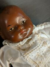 """Rare, Antique Black Baby Doll   Superbly Preserved   High End Artistry   8"""""""