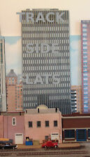 #227 N scale background building flat  LARGE OFFICE BUILDING   *FREE SHIPPING*