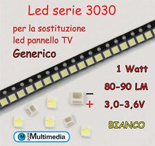 10 Led 3030 per retroilluminazione TV 1W 3,0-3,6V 80-90LM