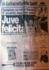 GAZZETTA DELLO SPORT=22/5/1995=JUVE FELICITA'=23° SCUDETTO=4-0 SUL PARMA