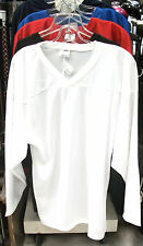 New Powertek ice hockey practice jersey long sleeve XXL large white senior sr