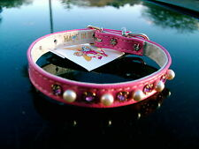 """MOD DOG NEW PINK JEWELED DOG COLLAR MADE IN USA  1/2"""" WIDE #10 TEN INCHES"""