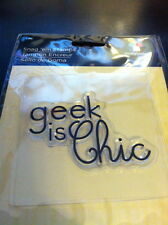 Imaginisce Geek Is Chic Clear Stamp!