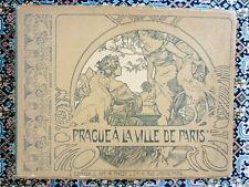 ALPHONSE MUCHA - ORIGINAL / VINTAGE - PRAGUE A LA VILLE DE PARIS - 1900