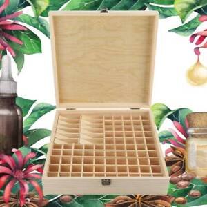 87 Bottles Essential Oil Storage Box Wooden Aromatherapy Holder Container Case