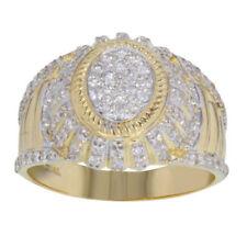 Anillos de joyería con diamantes sello de oro amarillo
