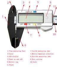 150mm 6inch LCD Digital Vernier Caliper Electronic Micrometer Carbon Fiber