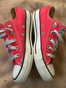 Converse Pink Low Top Sneakers, Womens Size 6
