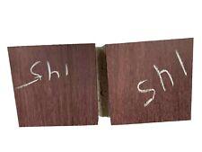 "Pack Of 2, Purpleheart Turning Wood Lathe, Bowl Blanks 6"" x 6"" x 2"" , #145"