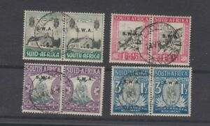 SOUTH WEST AFRICA B1-4 1935-6 semi-postals used pairs