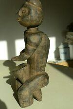 Statuette Africaine Sculpture Bois Musicien au TamTam Afrique Afrikan fetiche