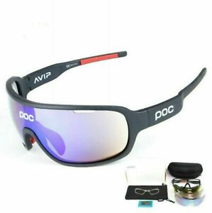 bike polarized Sports Sunglasses cycling glasses riding goggles with 5 lens
