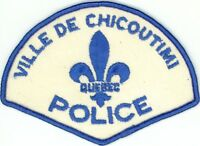 Ville de Chicoutimi Police, Quebec, Canada Vintage Uniform/Shoulder Patch