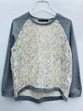 Zara Pull avec Détail en Dentelle Taille S Ref 2192 103