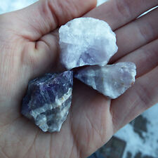 1 Banded Amethyst Natural raw rough healing chakra heart crystal stones purple
