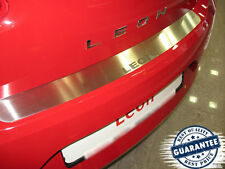 SEAT LEON II 1P 2005-2012 Rear Bumper Protector Stainless Steel Scuff Sill Plate