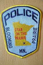 Patches: BLOOMING PRAIRIE STATE ON THE PRAIRIE USA POLICE PATCH(NEW*apx12.5x10cm