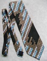 Vintage Tie Mens Wide Necktie Retro Fashion 1970s LANVIN CHEMISIER PARIS SILK