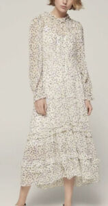 me + em wild meadow floral print overlay maxi dress Size 10 £350 Me And Em Summe