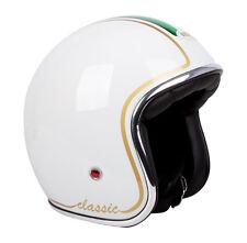 S Small Low Profile White Italian Milano Motorbike Helmet Scooter Vespa Piaggio
