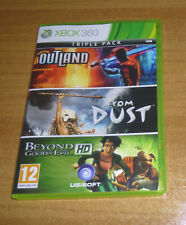 3 jeux XBOX 360 - Outland / From dust / Beyond good and evil HD