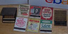 vintage Matchbook metal Holder and Matchbooks Esso Salem Mabels MORE MAKE OFFER!