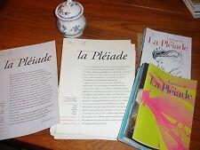 LETTRE DE LA PEIADE Collection complète