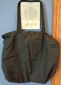 LeSportsac Large Travel Tote Bag Purse black Nylon Zipper