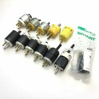 Lot of 12 Assorted Straight Blade Electrical Male Plug 2P 3W 15A 125V NEMA 5-15P