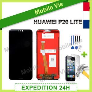 VITRE TACTILE + ECRAN LCD PRET-A-MONTER POUR HUAWEI P20 LITE NOIR + OUTILS/COLLE