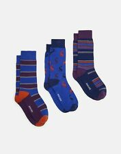 Joules Fantastically Fluffy Socks With Bears Navy Size 9-12 eu 24-31 Blue
