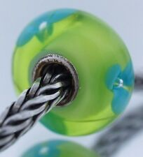 Authentic Trollbeads Retired Turquoise Flower 61322 New Glass Charm Bead