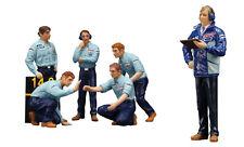 True Scale TSM F1 Pit Crew 6 Figurines - Team Tyrrell, 1976 1/18 +