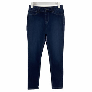 Laurie Felt Los Angeles Silky Ankle Skinny Jeans Stretch Cropped Size Small Logo
