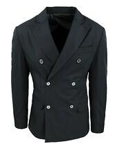 Giacca uomo Sartoriale nero slim fit blazer doppiopetto 100% made in Italy