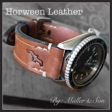 Müller&Son Genuine Horween Leather 22 mm Tan Watch Strap *4mm thick* Custom Made