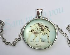 Ring Dog Pendant Uk Fast Free p&p Lovely Dalmation Glass Pendant Necklace or Key