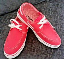 Women's Ladies Cotton Traders casual Deck/Boat Coral Shoes UK 7 New