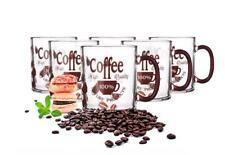 6 Latte Macchiato Gläser 300ml Coffee-Aufdruck Kaffeegläser Milchkaffee