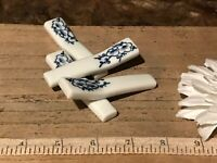 4 Asian Porcelain Blue & White Cherry Blossom Chopstick Holders