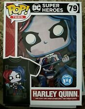 NEW POP! FUNKO TEE T-SHIRT DC SUPER HEROES HARLEY QUINN 79 M MEDIUM LIMITED ED