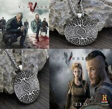 Vikings Amulett Die Baum des Lebens Yggdrasil Nordic Talisman Anhänger Halskette