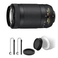 Nikon AF-P DX NIKKOR 70-300mm f/4.5-6.3G ED VR Lens + Top Accessories