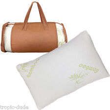 New Bamboo Comfort Hotel Luxury Pillow Memory Foam Queen Size with Travel Bag