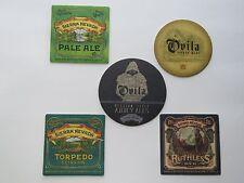 5 Beer Bar Coasters ~*~ SIERRA NEVADA Ovila Belgian Style Abbey Ales, Extra IPA