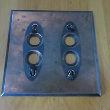 Antique Brass Double Push Button Light Switch Plate