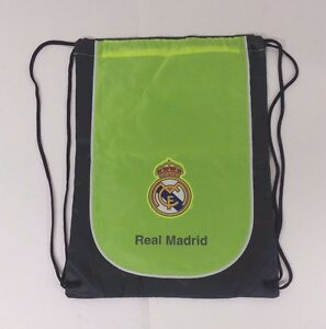 Real Madrid Cinch Bag Color Neon & Gray Official Licensed Product NWOT