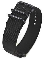 PRAETORIAN® DiverTec Extrem Black PVD Zulu / Nato Strap 20mm - Nato ZULU Armband